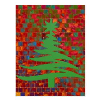 Verde moderno de la impresión de la plantilla del tarjeta postal