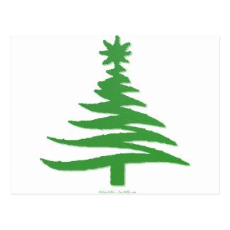 Verde moderno de la impresión de la plantilla del postal