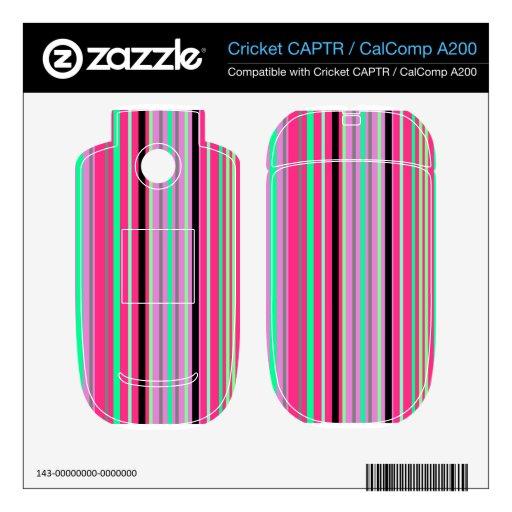 Verde moderno y rayas negras de las rosas fuertes calcomanía para cricket CAPTR