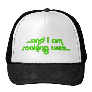 Verde mojado de impregnación gorras
