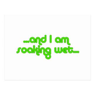 Verde mojado de impregnación postales