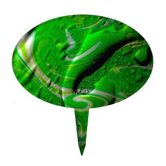 verde mojado del papel pintado decoración para tarta