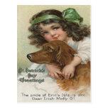 Verde Molly del perro del chica del Victorian Postal
