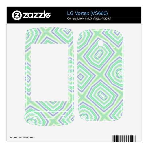 verde multicolor ligero skin para el LG vortex