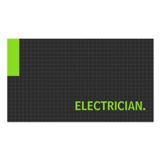 Verde múltiple del propósito del electricista tarjetas personales