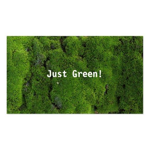 Verde nativo tarjeta de visita
