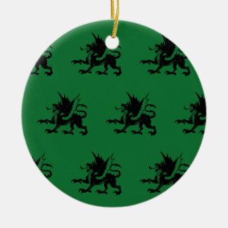 Verde negro de los dragones ornamentos para reyes magos