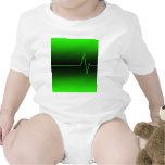 Verde negro EKG Trajes De Bebé