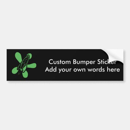 Verde negro retro de Splat Rocket Pegatina Para Auto