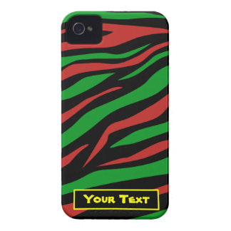 Verde negro rojo - una tribu llamó a Quest Theme iPhone 4 Case-Mate Carcasas