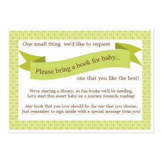 Verde neutral de la tarjeta de la petición del par plantilla de tarjeta personal