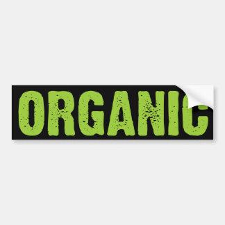 Verde ORGÁNICO en negro Etiqueta De Parachoque