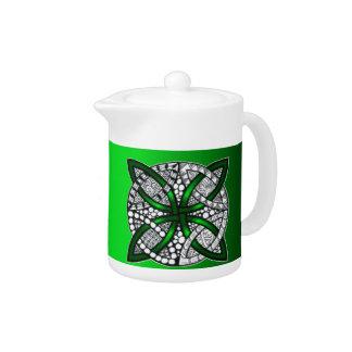 Verde original del arte del nudo céltico