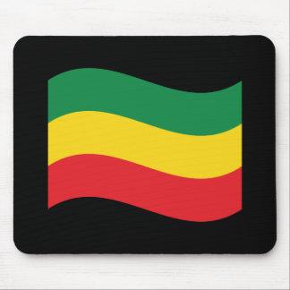 Verde, oro (amarillo) y bandera de los colores alfombrillas de ratones