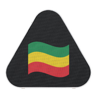 Verde, oro (amarillo) y bandera de los colores altavoz