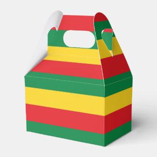 Verde, oro (amarillo) y bandera de los colores cajas para regalos de fiestas