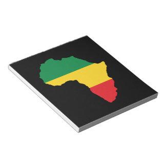 Verde, oro y bandera roja de África Libretas Para Notas