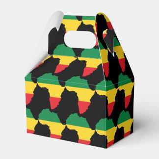 Verde, oro y bandera roja de África Cajas Para Regalos De Fiestas