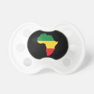 Verde, oro y bandera roja de África Chupete De Bebé
