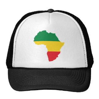 Verde, oro y bandera roja de África Gorras De Camionero