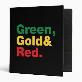 """Verde, oro y rojo carpeta 1"""""""