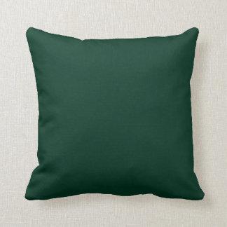 Verde oscuro almohada