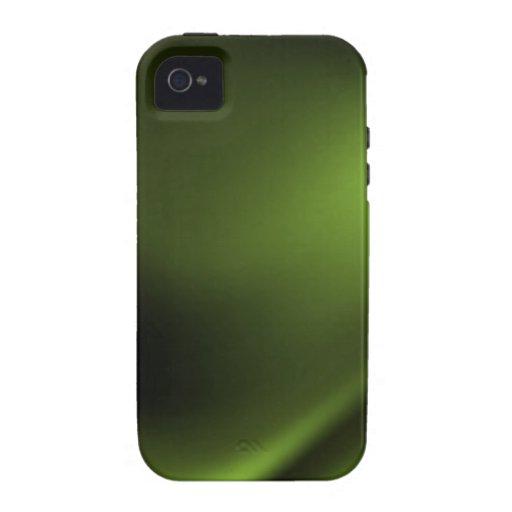 Verde oscuro e intenso iPhone 4/4S fundas
