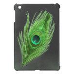 Verde oscuro en el mini caso del pavo real del iPa iPad Mini Fundas