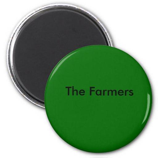 verde oscuro, los granjeros imanes de nevera