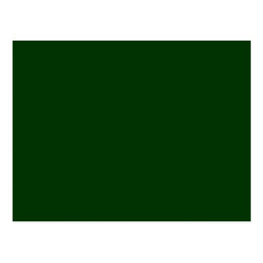 Verde oscuro postal