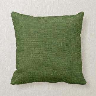 Verde oscuro simple de la arpillera cojin