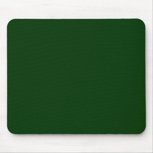 Verde oscuro tapetes de ratón