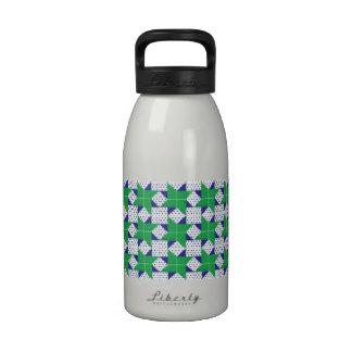 Verde pálido azul de la estrella del bloque del ed botellas de beber
