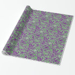 /Verde papel de embalaje inspirado batik púrpura