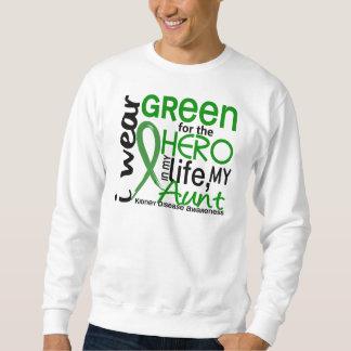 Verde para la enfermedad de la tía riñón del héroe sudadera