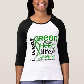 Verde para la enfermedad de riñón de la hija del h camisetas