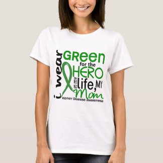 Verde para la enfermedad de riñón de la mamá del playera