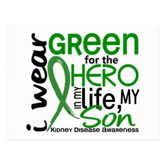 Verde para la enfermedad de riñón del hijo del tarjetas postales