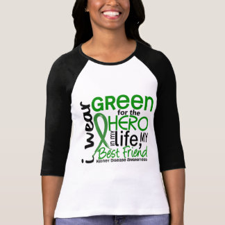 Verde para la enfermedad de riñón del mejor amigo  camiseta
