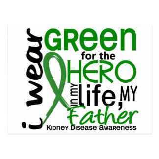 Verde para la enfermedad de riñón del padre del postal