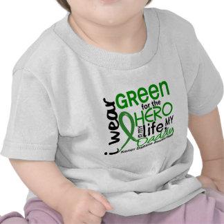 Verde para la enfermedad de riñón del papá del hér camisetas