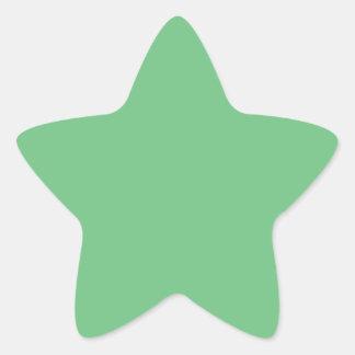 Verde Pegatina En Forma De Estrella