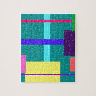 Verde persa minimalista rompecabezas