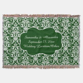 Verde personalizado del personalizado del boda/del manta