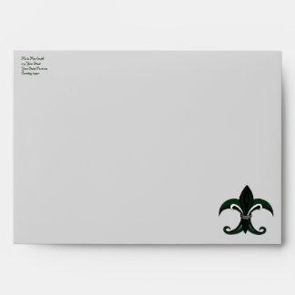 Verde plata de la flor de lis