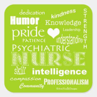 Verde psiquiátrico de la Cualidad-Cal del orgullo