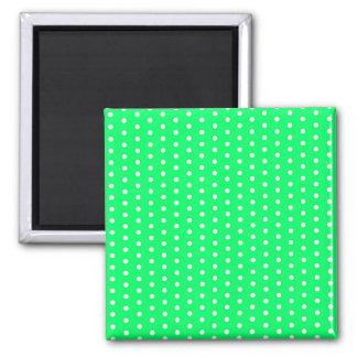 verde puntúa green (varios productos elegido) imán cuadrado