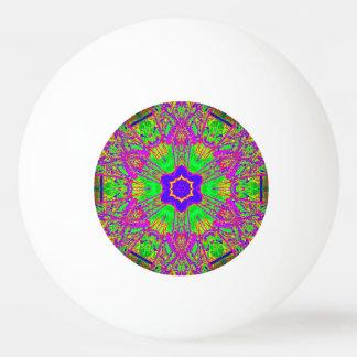 verde púrpura azul de la estrella del seis-punto pelota de ping pong