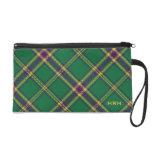 Verde/púrpura/bolso de la tela escocesa de tartán