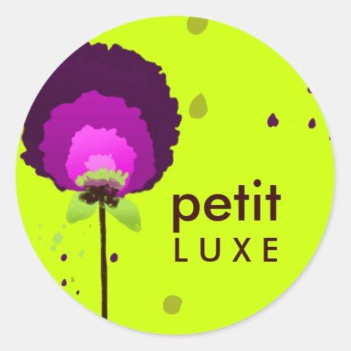 Verde púrpura de fascinación del neón del allium pegatina redonda